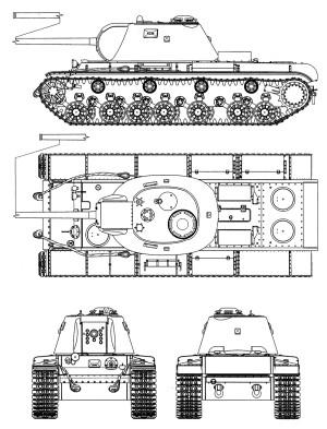 Проекции КВ-3