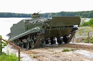 БТ-3Ф на водных испытаниях