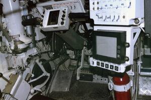 Капсула экипажа. Место водителя находится слева по ходу танка.
