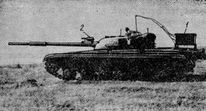 Т-64 с двигателем в 980 л,с Полигон ВНИИТрансмаша
