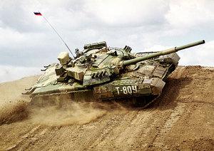 Т-80У с дитзелем
